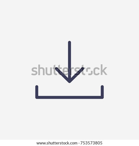 Outline download icon illustration vector symbol
