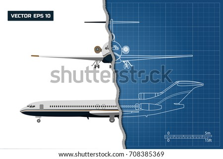 outline drawing of plane on a