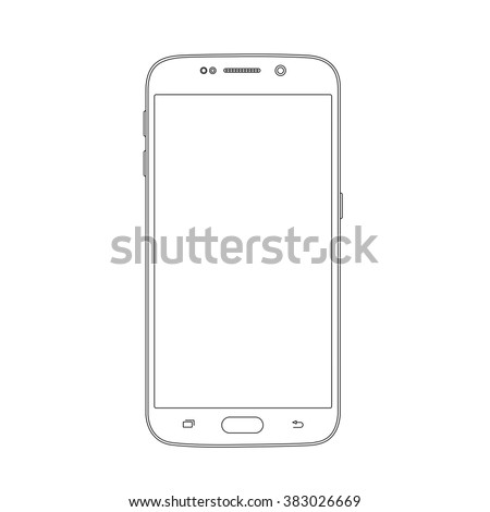 outline drawing smartphone