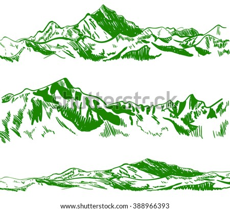 outline drawings  mountains....