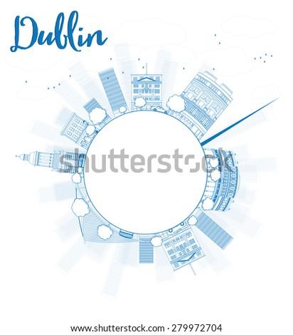 outline dublin skyline with