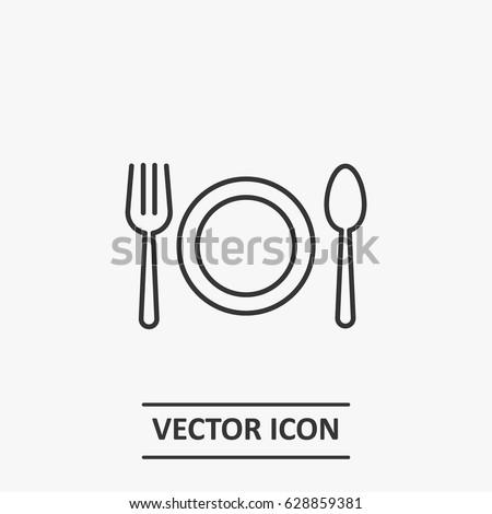 Outline eat food   icon illustration vector symbol