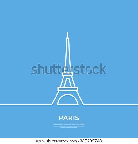 outline eiffel tower paris