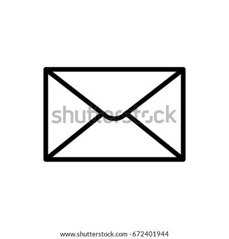 Outline envelope icon isolated. Line mail symbol for website design, mobile application, ui. Editable stroke. Vector illustration