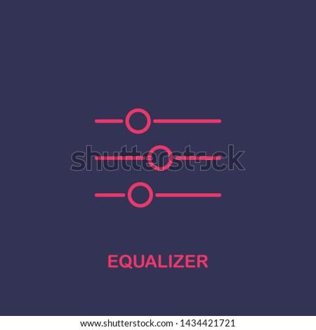 Outline equalizer icon.equalizer vector illustration. Symbol for web and mobile
