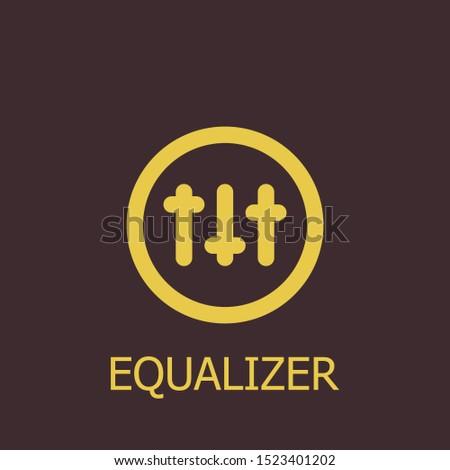Outline equalizer vector icon. Equalizer illustration for web, mobile apps, design. Equalizer vector symbol.