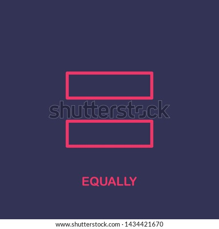 Outline equally icon.equally vector illustration. Symbol for web and mobile