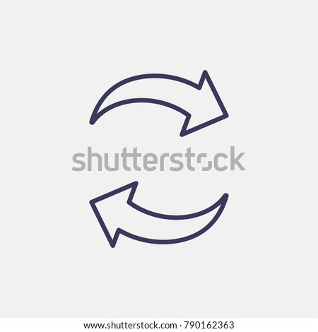 Outline exchange icon illustration isolated vector sign symbol