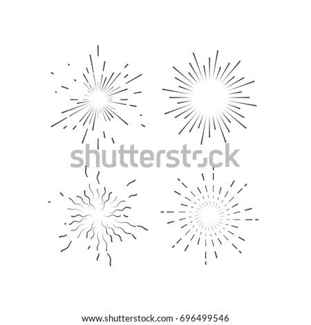 outline explosive firework