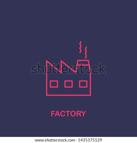 Outline factory icon.factory vector illustration. Symbol for web and mobile