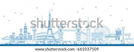 outline famous landmarks in
