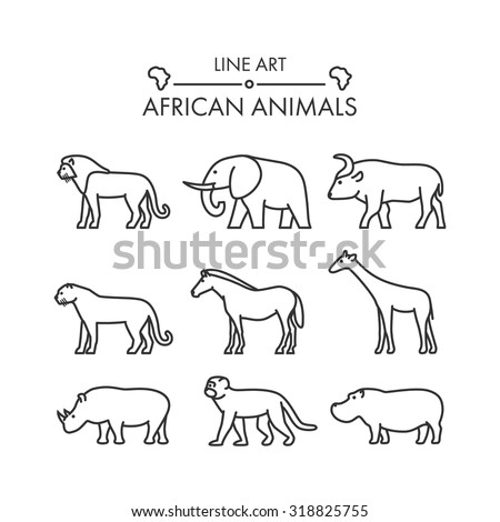 outline figures of african