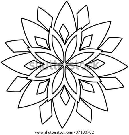 Ornament Outline Outline floral decoration