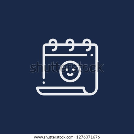 Outline friendship day vector icon. Friendship day illustration for web, mobile apps, design. Friendship day vector symbol.