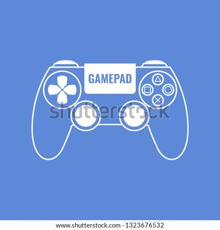 Outline gamepad. Gamepad illustration for web, mobile apps, design. Vector illustration.