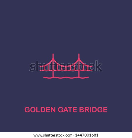 outline golden gate bridge icon