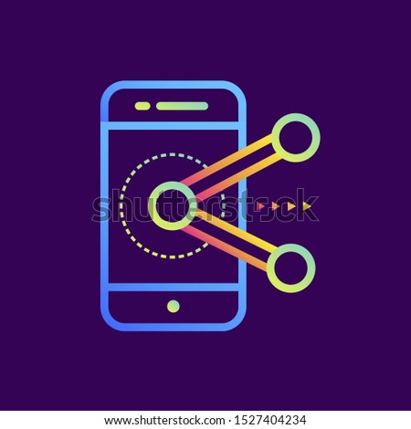 Outline gradient icon Augmented reality. Virtual and augmented reality gadgets. Suitable for presentation, mobile apps, website, interfaces and print