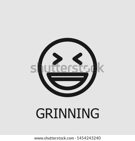 outline grinning vector icon