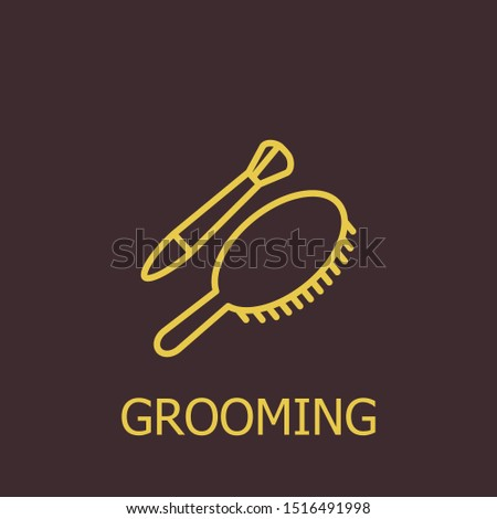 Outline grooming vector icon. Grooming illustration for web, mobile apps, design. Grooming vector symbol.