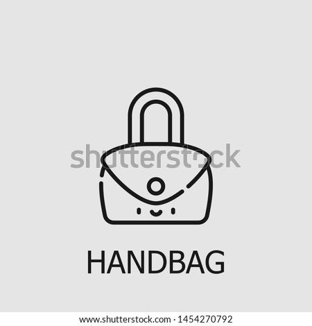Outline handbag vector icon. Handbag illustration for web, mobile apps, design. Handbag vector symbol.