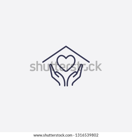 Outline heart icon illustration. isolated vector sign symbol