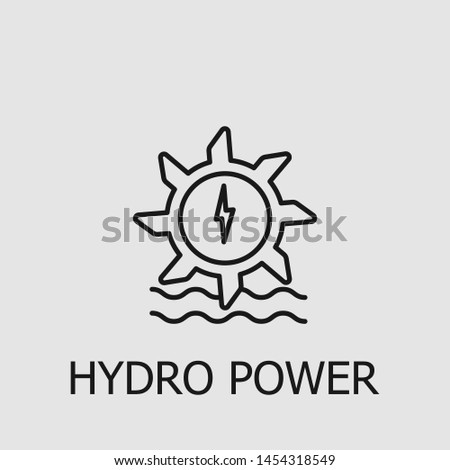 Outline hydro power vector icon. Hydro power illustration for web, mobile apps, design. Hydro power vector symbol.