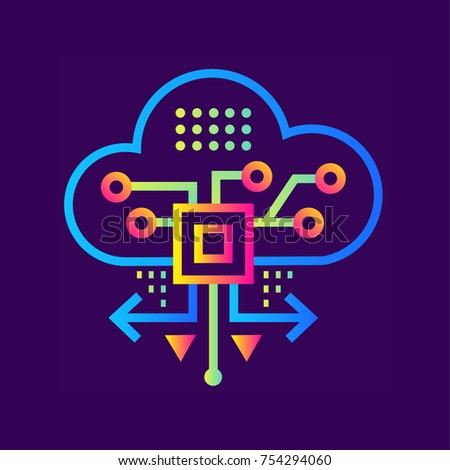 outline icon cloud based