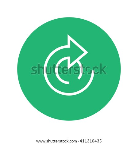 outline icon repeat, green reboot icon, refill icon, icon reset flat, reboot button, boot vector button, outline button repeat,