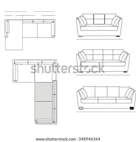 Sofa Top View Vector Stock Photo 288351320 Avopix Com