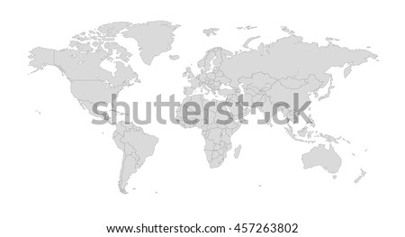 World countries map vector download free vector art stock outline illustration of the world with country borders gumiabroncs Choice Image