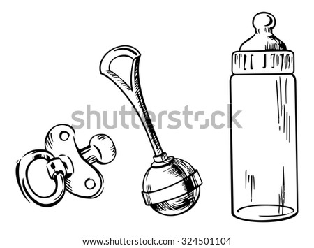 outline image of baby bottle ...