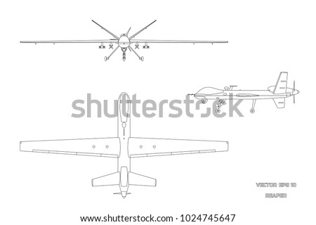 outline image of military drone