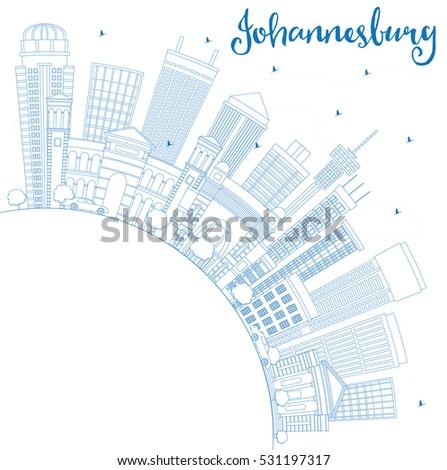 outline johannesburg skyline...