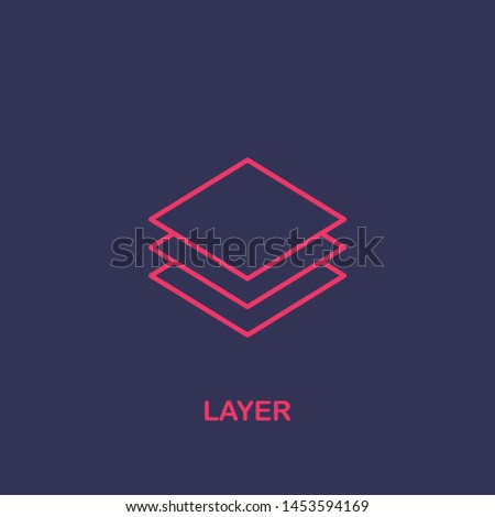 Outline layer icon.layer vector illustration. Symbol for web and mobile
