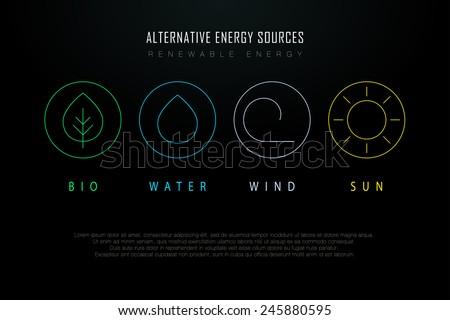 outline logos with alternative