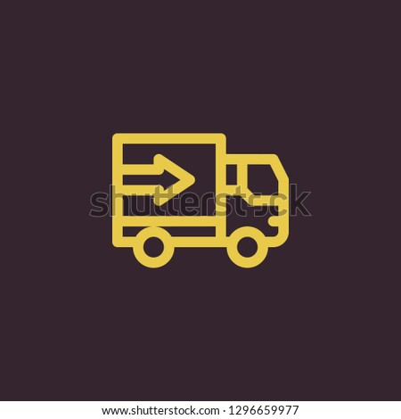 Outline lorry vector icon. Lorry illustration for web, mobile apps, design. Lorry vector symbol.