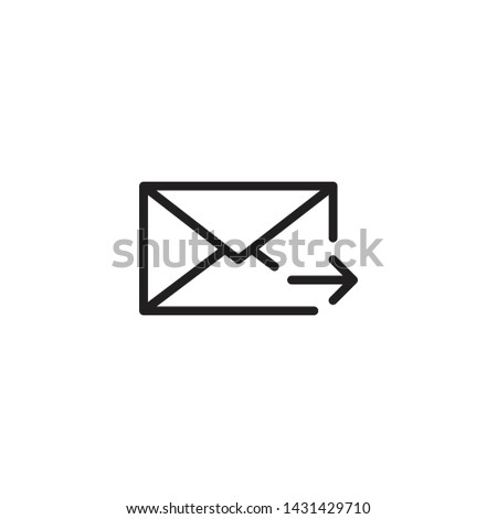 Outline mail Envelope icon, Outline mail Envelope vector, Outline mail Envelope illustration, Outline mail Envelope eps10
