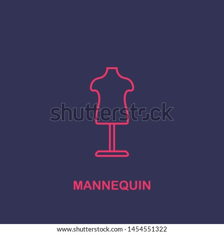 Outline mannequin icon.mannequin vector illustration. Symbol for web and mobile