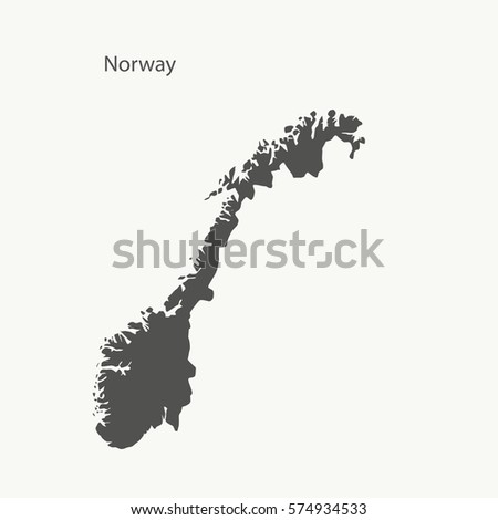 outline map of norway isolated
