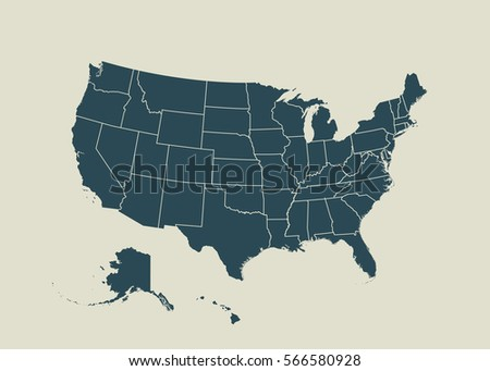 Free US Map Silhouette Vector - Us maps states