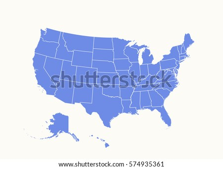 Free US Map Silhouette Vector - Us map with states outlined vector