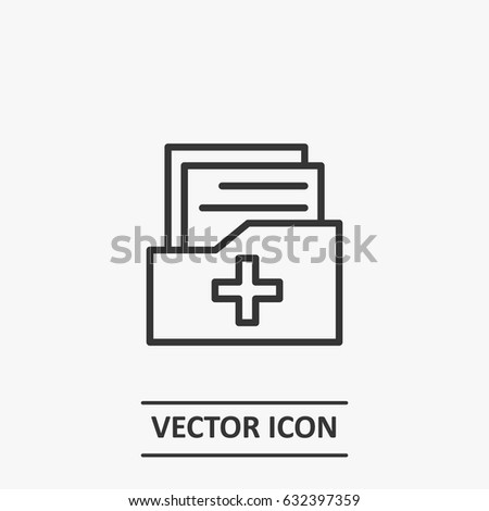 Outline medical folder   icon illustration vector symbol