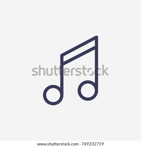 Outline melody icon illustration vector symbol