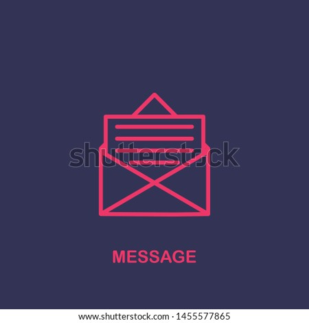 Outline message icon.message vector illustration. Symbol for web and mobile
