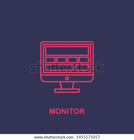Outline monitor icon.monitor vector illustration. Symbol for web and mobile