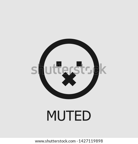 outline muted vector icon