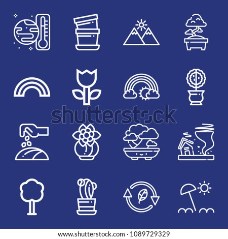 outline nature icon set such as