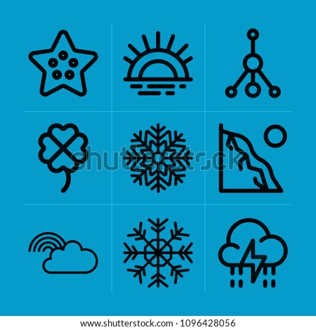 outline nature 9 vector icons