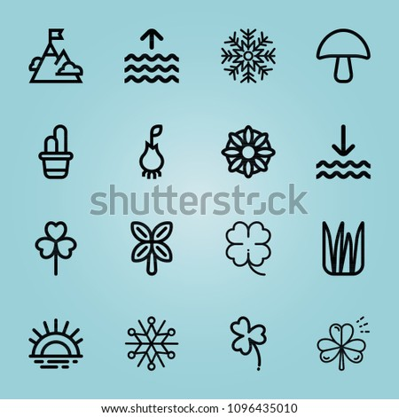 outline nature 16 vector icons