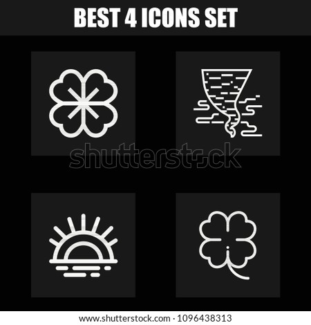 outline nature 4 vector icons